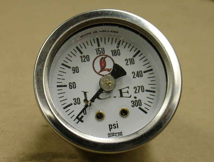 Replacement Air Gauge White Face 