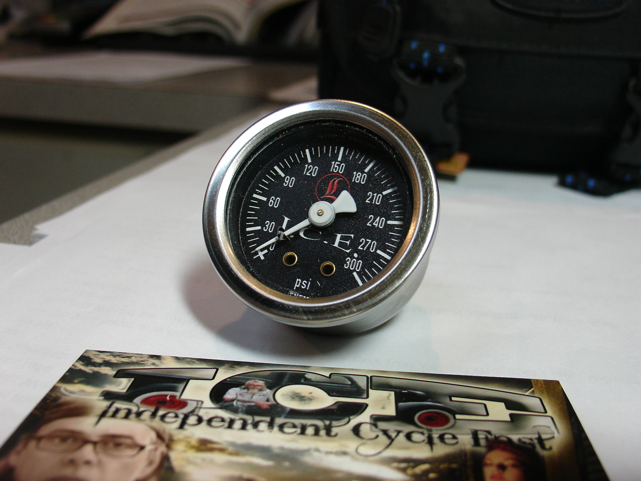 Replacement Air Gauge  Black Face 